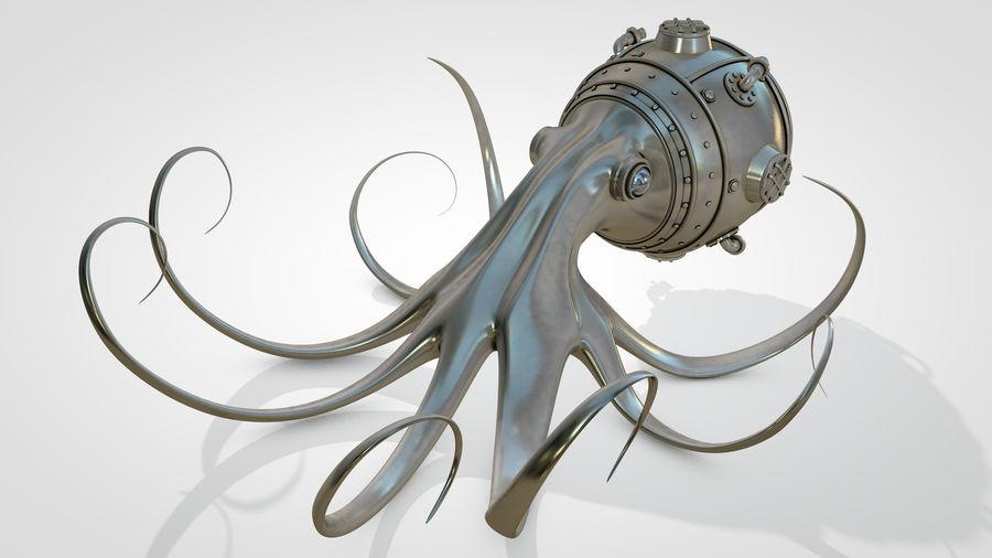 Poulpe Steampunk royalty-free 3d model - Preview no. 2