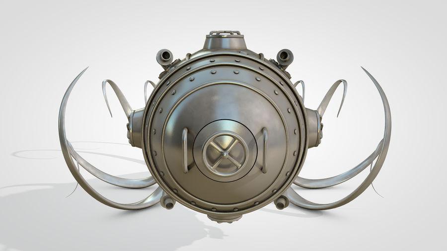 Poulpe Steampunk royalty-free 3d model - Preview no. 14