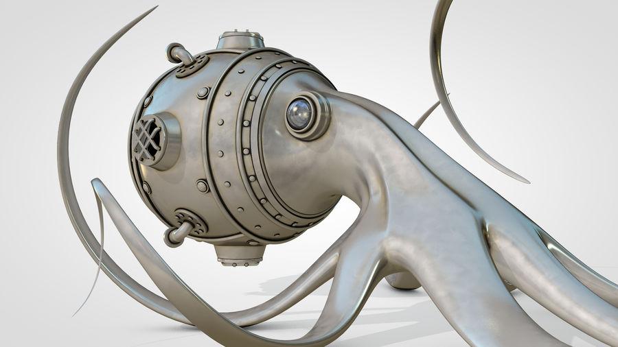 Poulpe Steampunk royalty-free 3d model - Preview no. 3