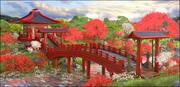 Paysage de l'environnement asiatique 3d model