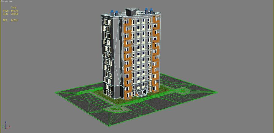 多层建筑_1 royalty-free 3d model - Preview no. 15