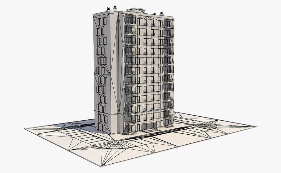 多层建筑_1 royalty-free 3d model - Preview no. 8
