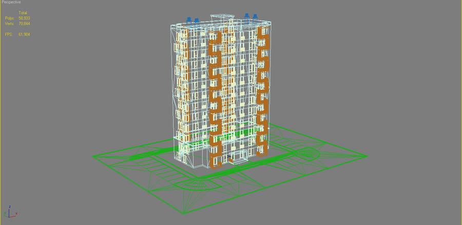 多层建筑_1 royalty-free 3d model - Preview no. 14