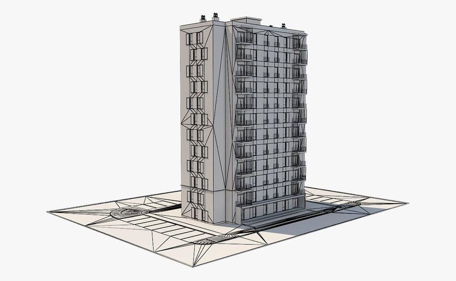 多层建筑_1 royalty-free 3d model - Preview no. 10