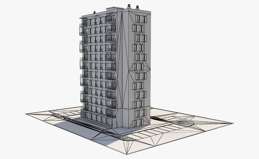 多层建筑_1 royalty-free 3d model - Preview no. 11