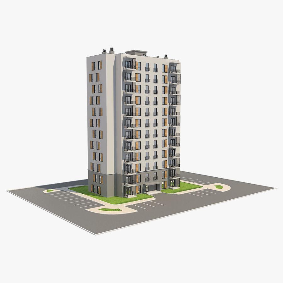 多层建筑_1 royalty-free 3d model - Preview no. 1