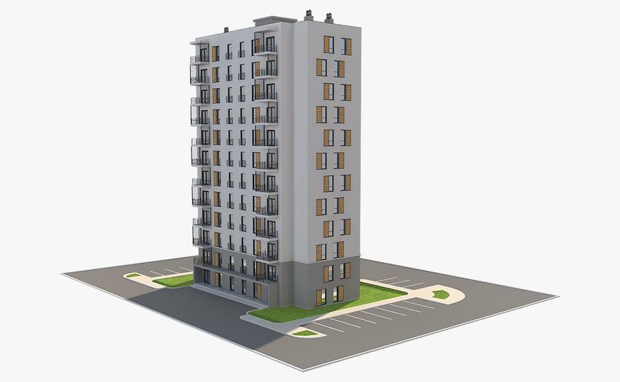 多层建筑_1 royalty-free 3d model - Preview no. 5