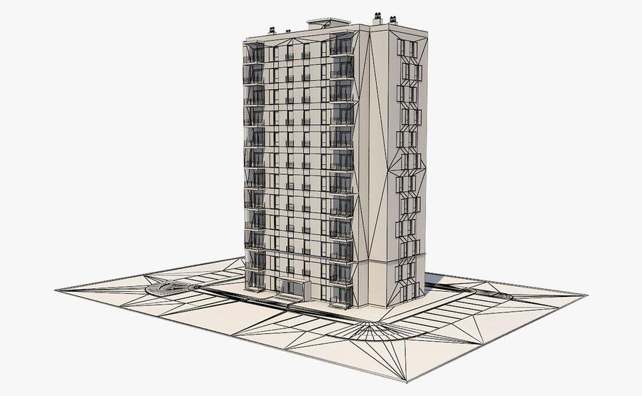 多层建筑_1 royalty-free 3d model - Preview no. 9