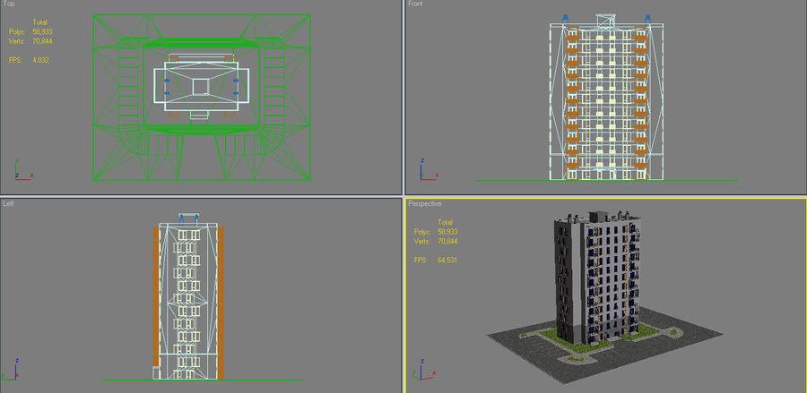 多层建筑_1 royalty-free 3d model - Preview no. 16