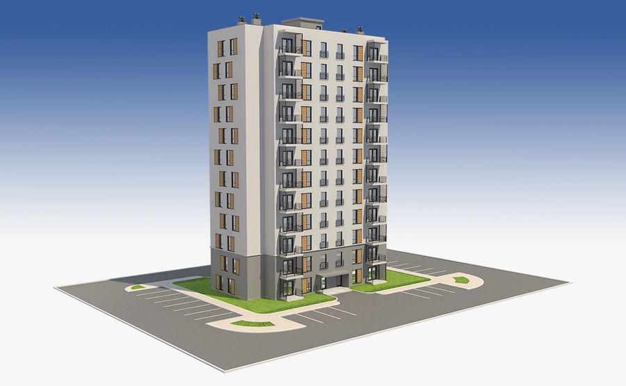 多层建筑_1 royalty-free 3d model - Preview no. 2
