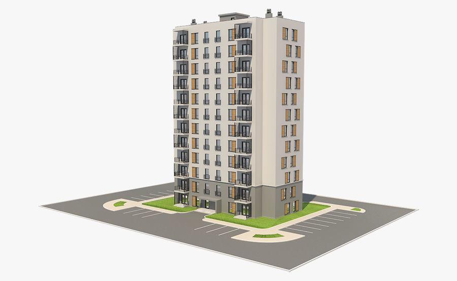 多层建筑_1 royalty-free 3d model - Preview no. 3