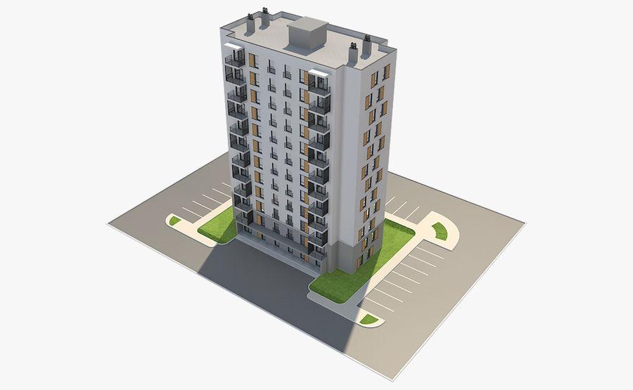 多层建筑_1 royalty-free 3d model - Preview no. 7