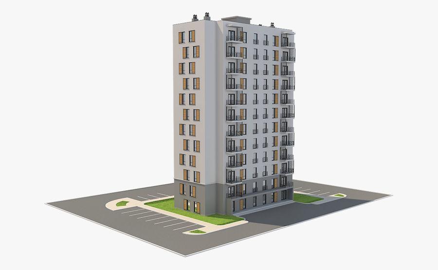 多层建筑_1 royalty-free 3d model - Preview no. 4