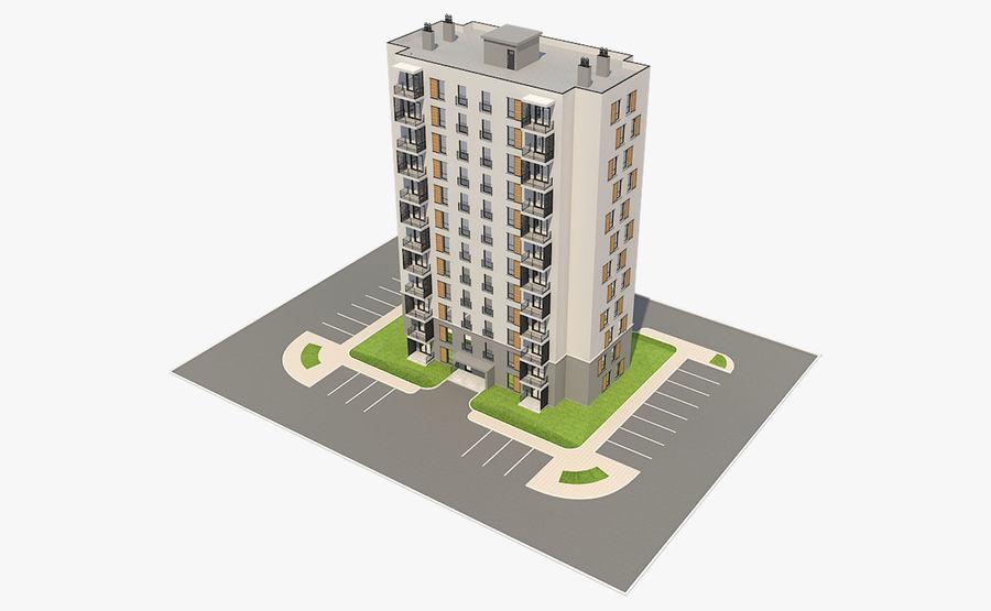 多层建筑_1 royalty-free 3d model - Preview no. 6