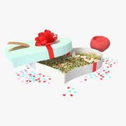 St Valentines day gift box 3d model