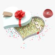 Caja de regalo del día de San Valentín modelo 3d