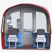 Метро Поезд Кабина 3d model