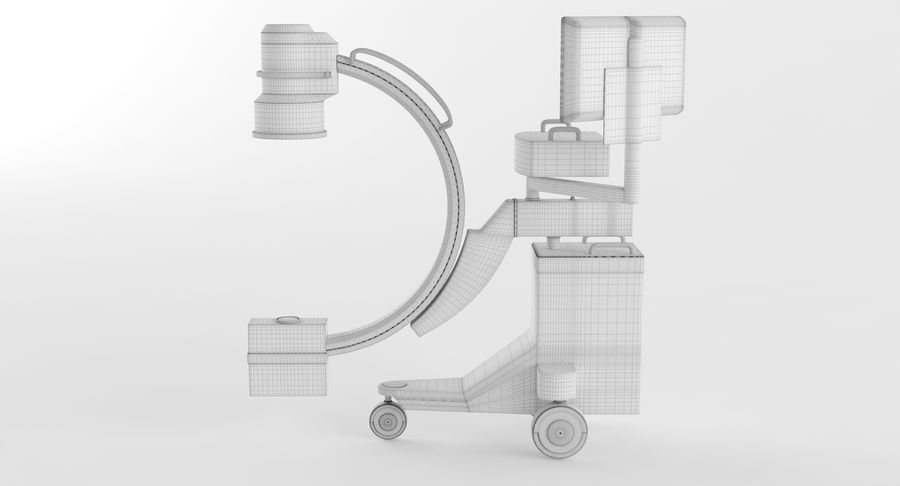 C-Arm Röntgengerät royalty-free 3d model - Preview no. 12
