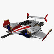 Sci-Fi Jet Spacefighter Concept - PBR 3d model