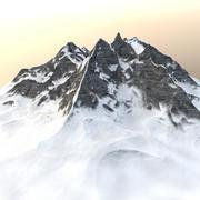 Berg - Winterlandschap 3d model