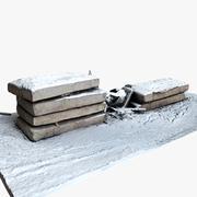 Placas de concreto 3d model