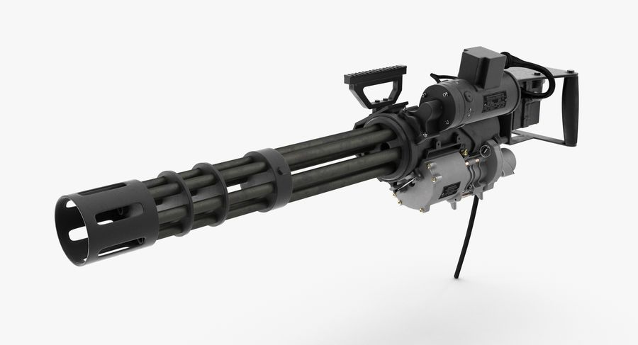 M134 Minigun Collection royalty-free 3d model - Preview no. 5