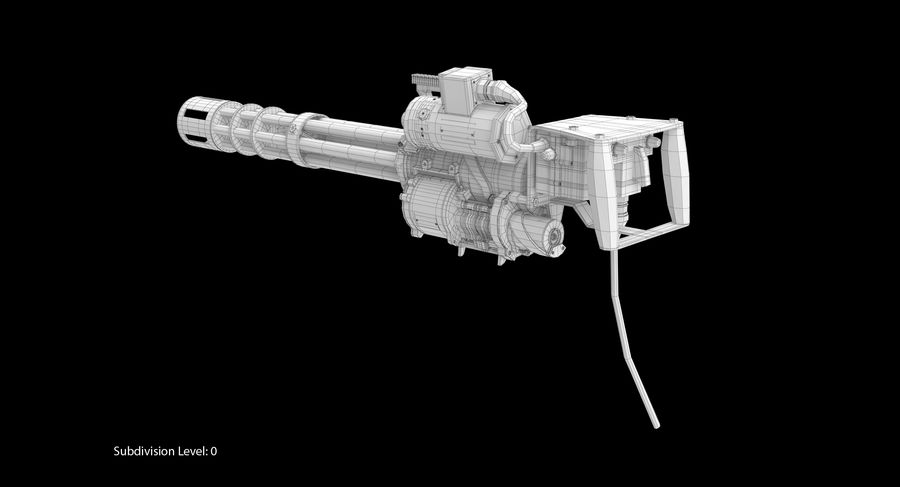 M134 Minigun Collection royalty-free 3d model - Preview no. 30