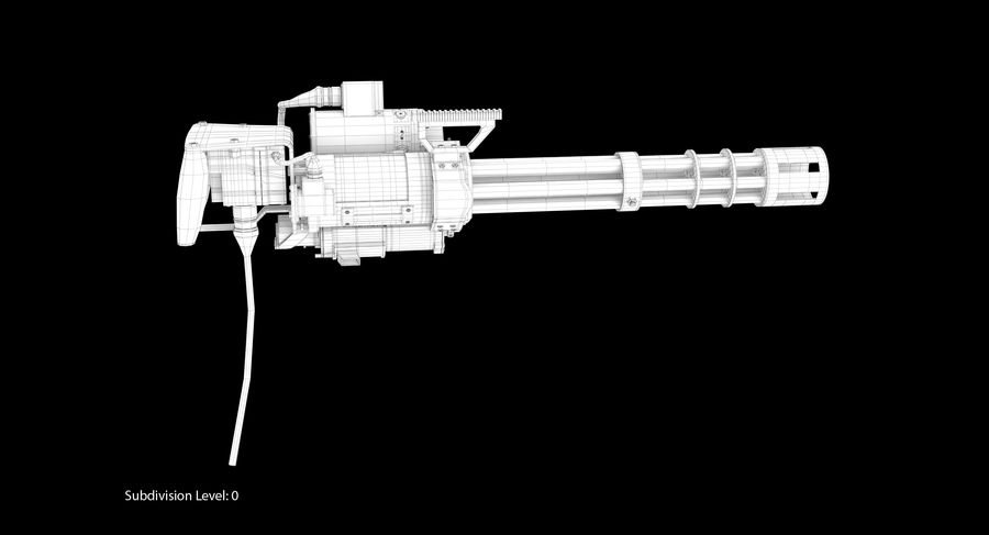 M134 Minigun Collection royalty-free 3d model - Preview no. 34