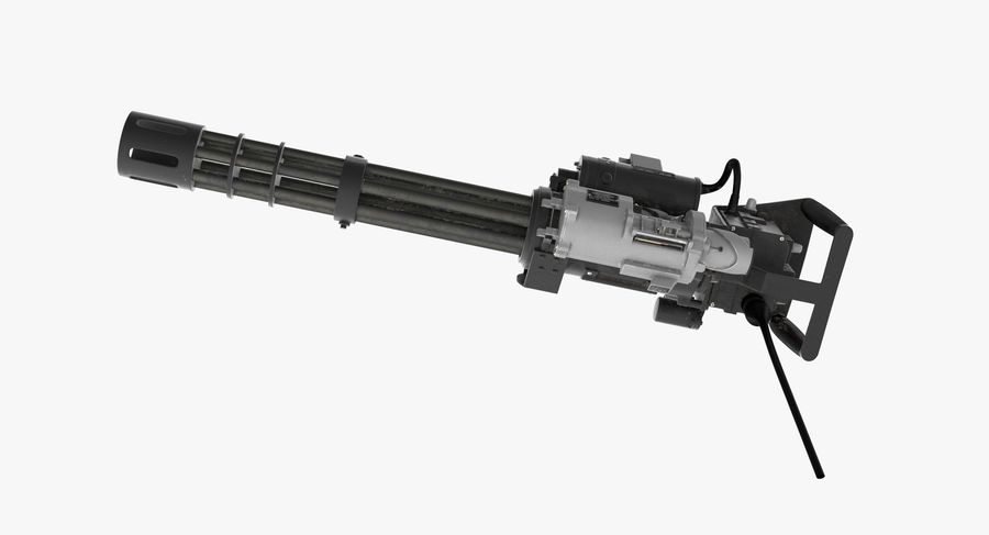 M134 Minigun Collection royalty-free 3d model - Preview no. 25