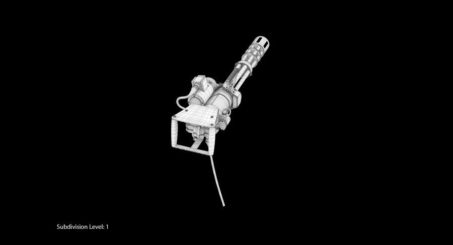 M134 Minigun Collection royalty-free 3d model - Preview no. 33