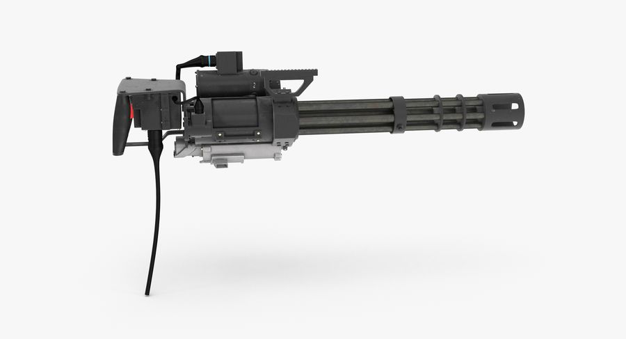 M134 Minigun Collection royalty-free 3d model - Preview no. 9