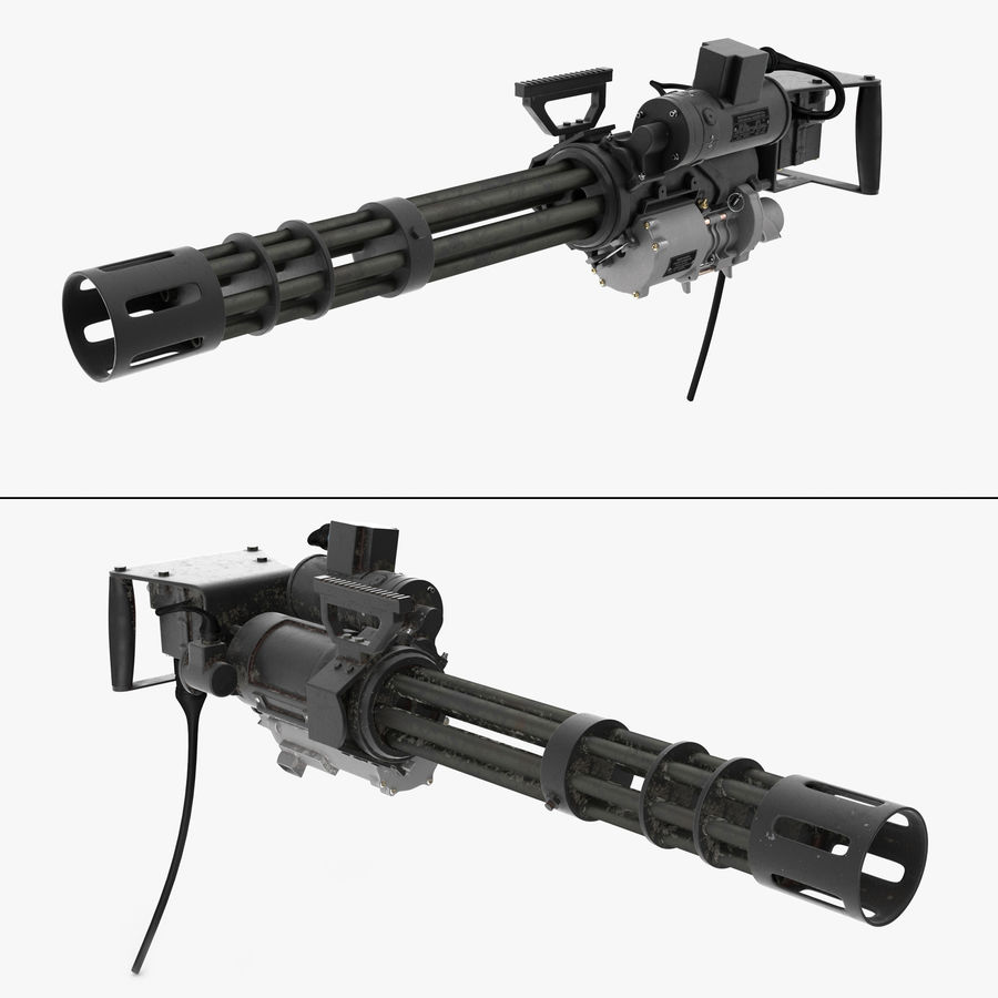 M134 Minigun Collection royalty-free 3d model - Preview no. 1