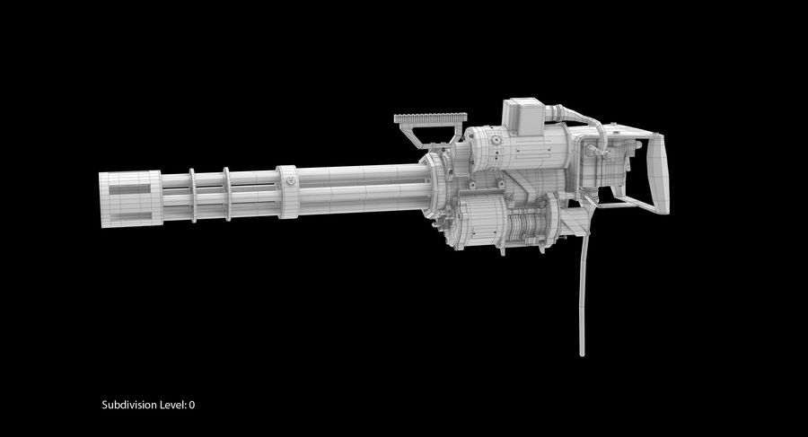 M134 Minigun Collection royalty-free 3d model - Preview no. 28