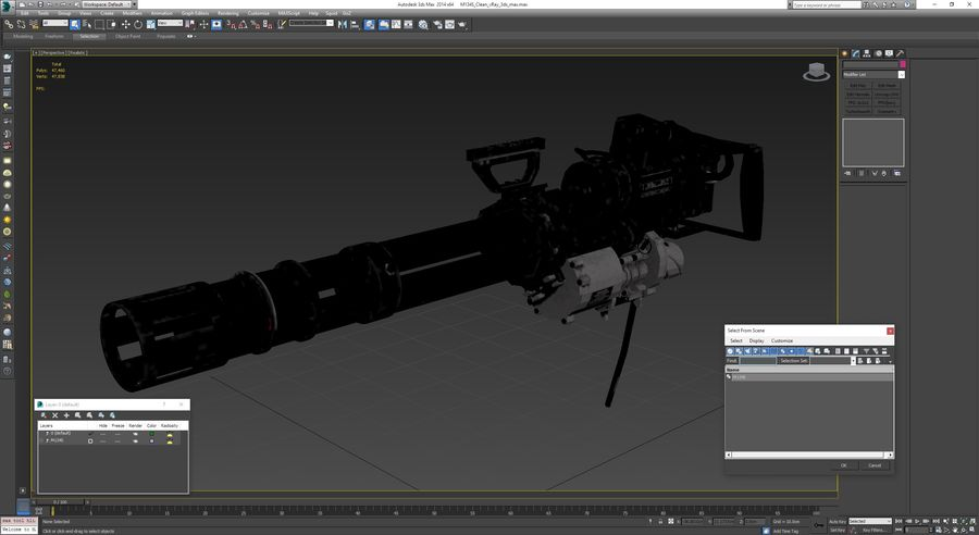 M134 Minigun Collection royalty-free 3d model - Preview no. 2