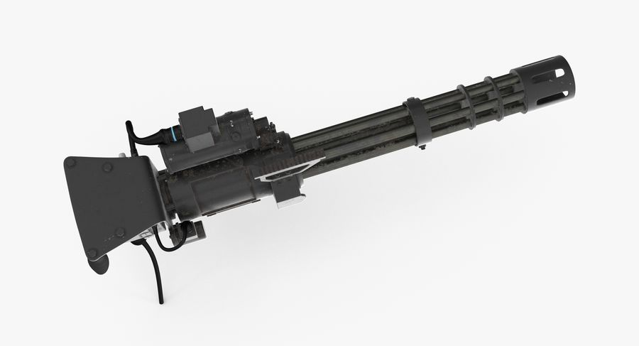 M134 Minigun Collection royalty-free 3d model - Preview no. 24