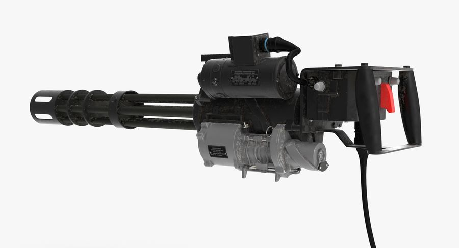 M134 Minigun Collection royalty-free 3d model - Preview no. 23