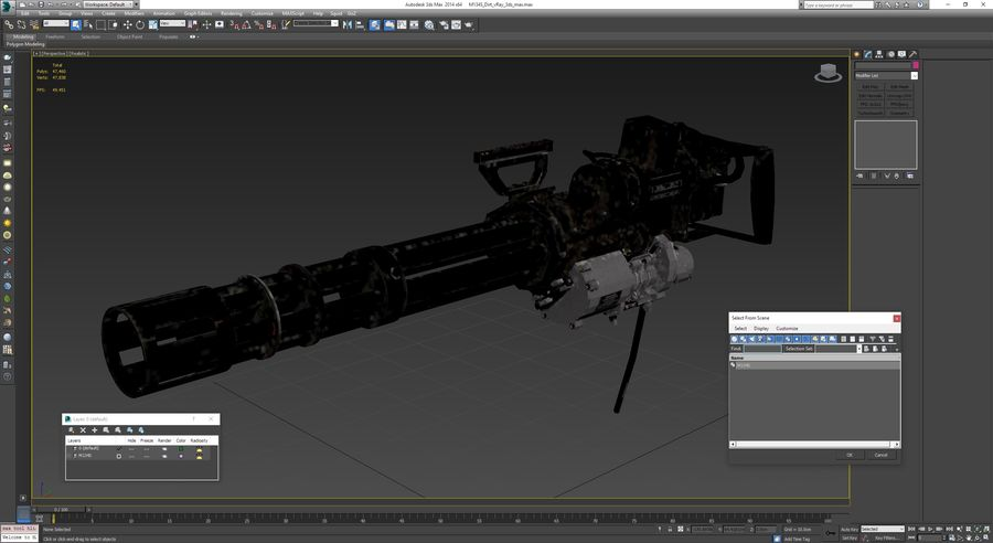 M134 Minigun Collection royalty-free 3d model - Preview no. 14