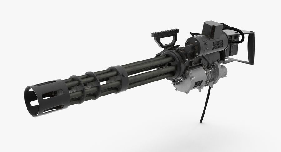 M134 Minigun Collection royalty-free 3d model - Preview no. 17