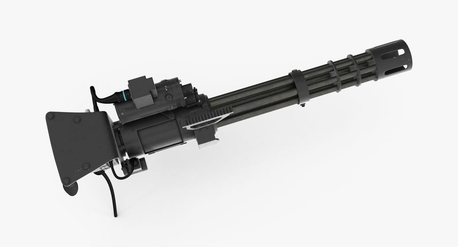 M134 Minigun Collection royalty-free 3d model - Preview no. 12