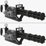 M134 Minigun With Mounting Bracket Collection 3d model