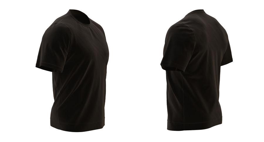 Czarny t-shirt royalty-free 3d model - Preview no. 5