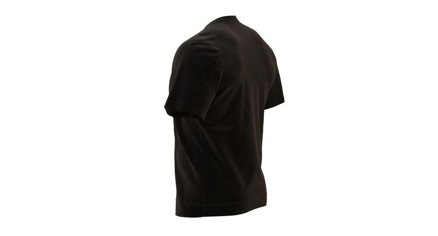 Czarny t-shirt royalty-free 3d model - Preview no. 10