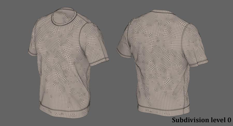 Czarny t-shirt royalty-free 3d model - Preview no. 19
