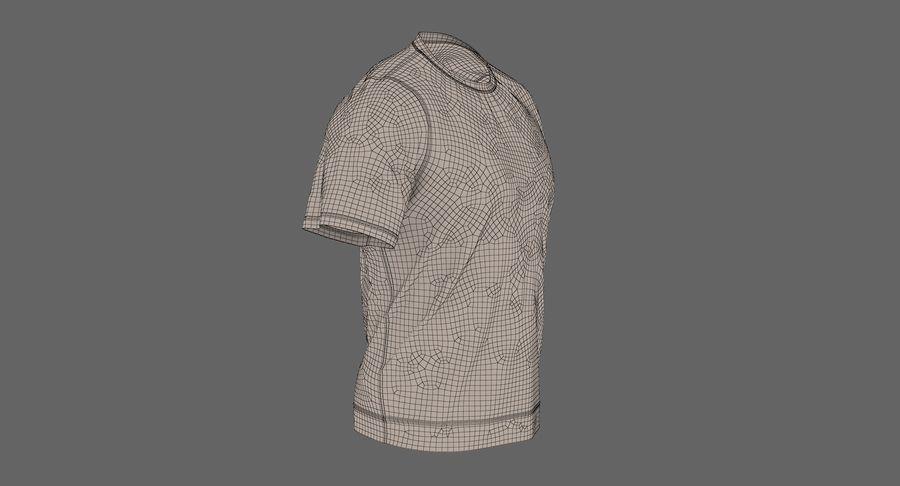 Czarny t-shirt royalty-free 3d model - Preview no. 25
