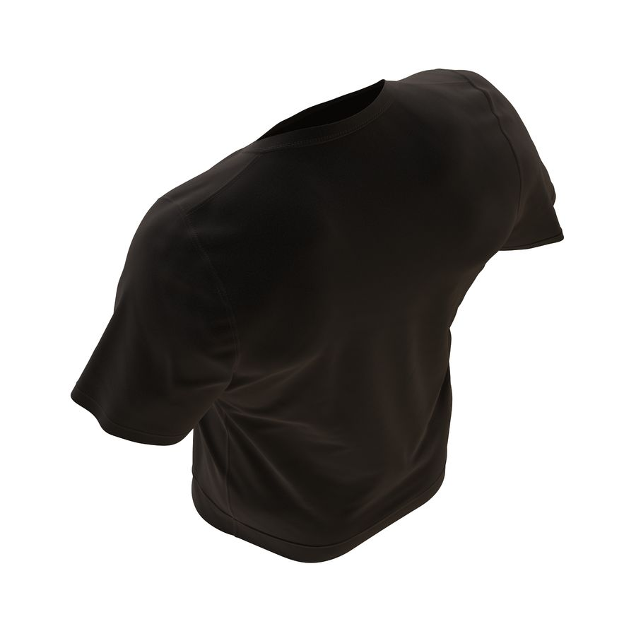 Czarny t-shirt royalty-free 3d model - Preview no. 13