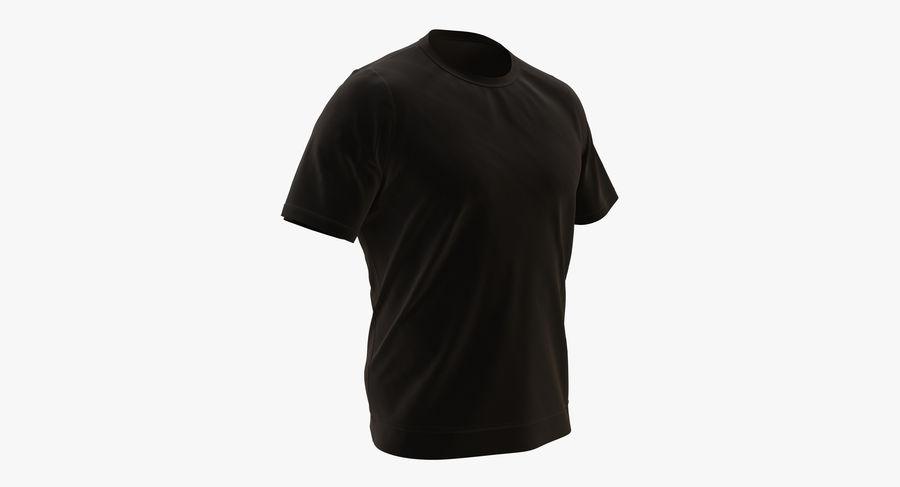 Czarny t-shirt royalty-free 3d model - Preview no. 2