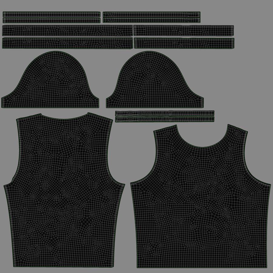 Czarny t-shirt royalty-free 3d model - Preview no. 21