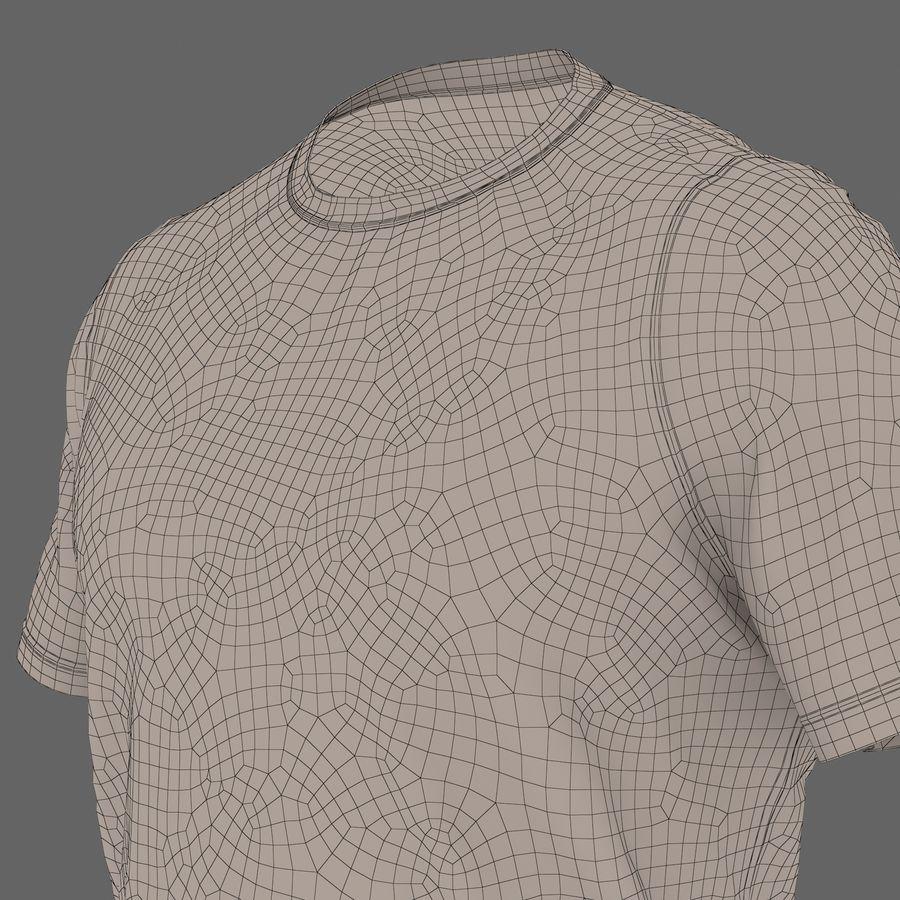 Czarny t-shirt royalty-free 3d model - Preview no. 29