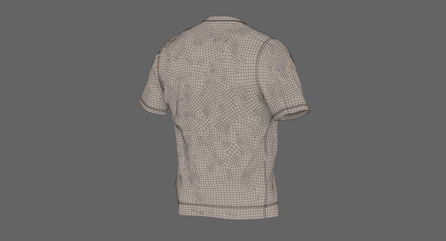Czarny t-shirt royalty-free 3d model - Preview no. 26