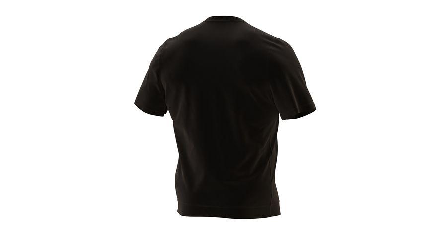 Czarny t-shirt royalty-free 3d model - Preview no. 9